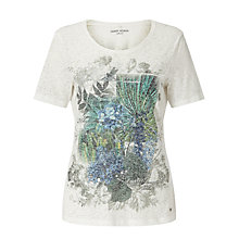 Buy Gerry Weber Burnout Printed T-Shirt, Milk Online at johnlewis.com