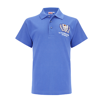 The South Wolds Academy & Sixth Form Unisex Polo Shirt, Royal Blue