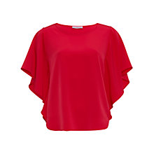 Buy Gina Bacconi Soho Crepe Top, Tomato Online at johnlewis.com