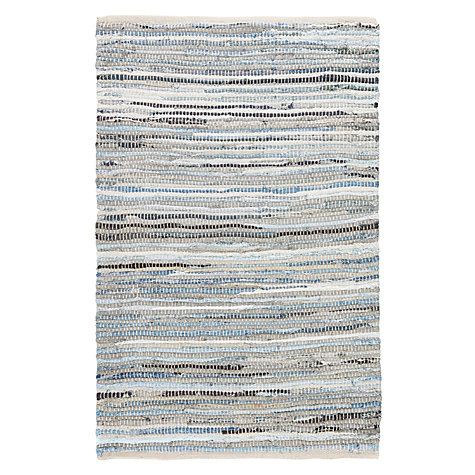 John Lewis Denim Weave Rug Blue Online At Johnlewis