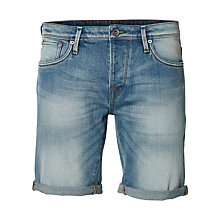 Buy Selected Homme Alex Denim Shorts, Light Blue Online at johnlewis.com