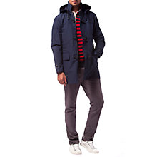 Buy Tommy Hilfiger Cotton-Blend Duffle Coat, Navy Online at johnlewis.com