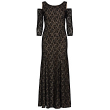 Buy Gina Bacconi Lace Maxi Dress With Cut Out Shoulder, Black Online at johnlewis.com