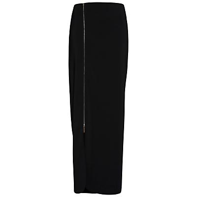 Product photo of Gina bacconi statement zip maxi skirt black