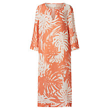 Buy East Linen Palm Kaftan Maxi Dress, Orange Online at johnlewis.com