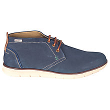 Buy Barbour Bowlam Lace-Up Chukka Boots, Navy Nubuck Online at johnlewis.com
