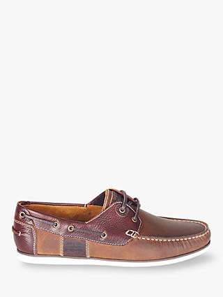 Barbour Capstan Boat Shoes, Beige/Brown
