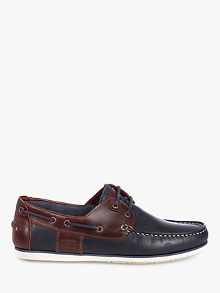 Barbour Capstan Boat Shoes, Navy/Brown