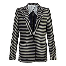 Buy Weekend MaxMara Carta Stripe Jacket, Ultramarine Online at johnlewis.com