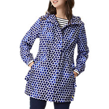 Buy Joules Right as Rain Golightly Pack Away Waterproof Parka, Pool Blue Spot Online at johnlewis.com