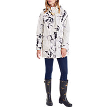 Buy Joules Right as Rain Haven Waterproof Jacket, Cream Floral Online at johnlewis.com