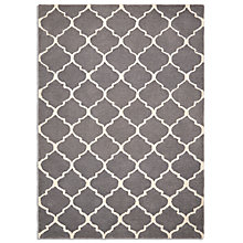 Buy John Lewis Trellis Rug, Grey Online at johnlewis.com