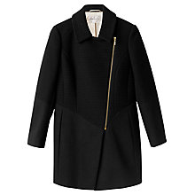 Buy Precis Petite Charlotte Asymmetric Coat, Black Online at johnlewis.com
