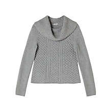 Buy Precis Petite Philippa Cable Knit Jumper, Grey Online at johnlewis.com