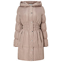 Buy Jacques Vert Waist Detail Puffer Jacket, Light Pink Online at johnlewis.com