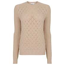 Buy Warehouse Diamond Stitch Jumper, Stone Online at johnlewis.com