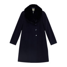 Buy Precis Petite Jeff Banks Faux Fur Collar Coat, Dark Blue Online at johnlewis.com