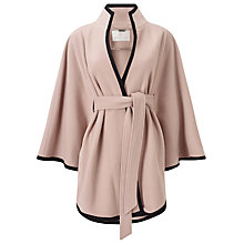 Buy Jacques Vert Contrast Trimmed Cape, Mid Neutral Online at johnlewis.com