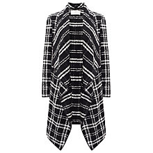 Buy Jacques Vert Checked Coatigan, Multi/Black Online at johnlewis.com