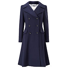 Buy Jacques Vert Fit and Flare Coat, Navy Online at johnlewis.com