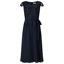 Buy Jacques Vert Soft Fit and Flare Dress, Navy Online at johnlewis.com