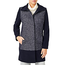 Buy Jacques Vert Textured Block Coat, Navy Online at johnlewis.com