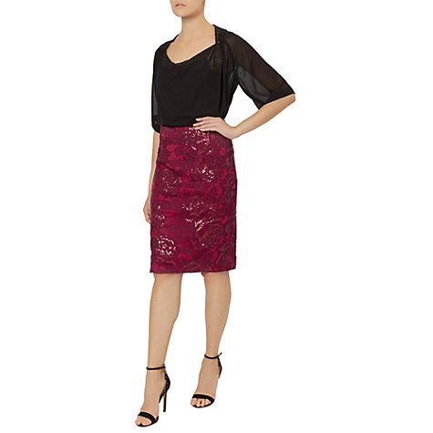 Buy Fenn Wright Manson Petite Volcano Skirt, Red Online at johnlewis.com