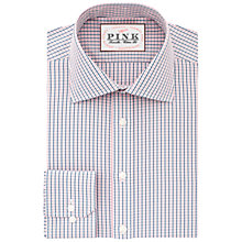 Buy Thomas Pink Corson Check Classic Fit XL Sleeve Shirt, Navy/Pink Online at johnlewis.com