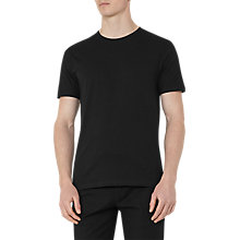 Buy Reiss Bless Short Sleeve Cotton T-Shirt, Black Online at johnlewis.com