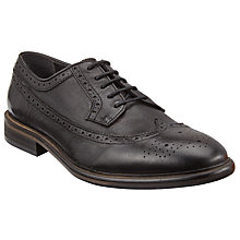 Buy Paul Smith Malloy Dip Dye Calf Brogues, Black Online at johnlewis.com