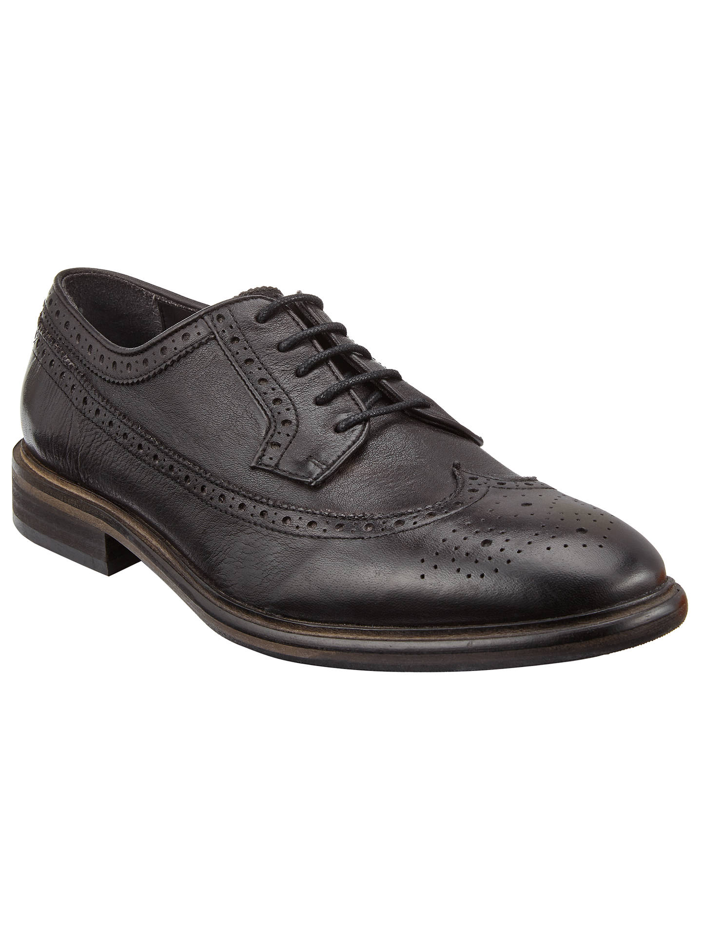 8765033eb24a08 Buy Paul Smith Malloy Dip Dye Calf Brogues, Black, 7 Online at johnlewis.
