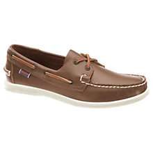 Buy Sebago Liteside 2 Eye Boat Shoes, Medium Brown Online at johnlewis.com
