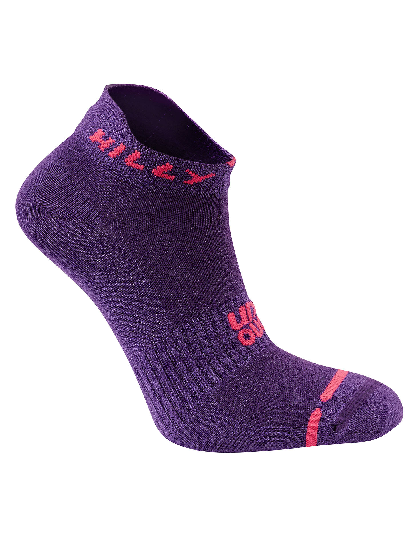 BuyHilly Lite Running Socklets, Single Pair, Purple, 3-5.5 Online at johnlewis.com