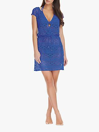 Freya Sundance Cross Over Crochet Dress, Cobalt