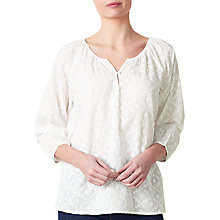 Buy Collection WEEKEND by John Lewis Embroidered Blouse, White Online at johnlewis.com