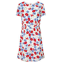 Buy Collection WEEKEND by John Lewis Dobby Floral Dress, Ivory/Multi Online at johnlewis.com