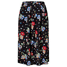 Buy Collection WEEKEND by John Lewis Riverboat Floral Skirt, Black/Multi Online at johnlewis.com