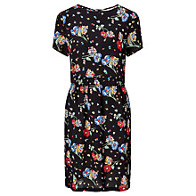 Buy Collection WEEKEND by John Lewis Riverboat Floral Dress, Black/Multi Online at johnlewis.com