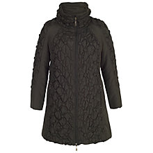 Buy Chesca Button Quilted Coat, Black Online at johnlewis.com