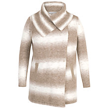 Buy Chesca Ombre Knitted Wrap Cardigan, Beige/Ivory Online at johnlewis.com