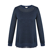 Buy Celuu Cybil Metallic Jumper, Navy Online at johnlewis.com