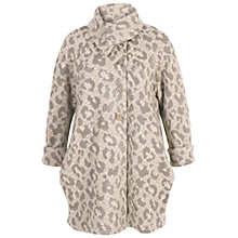 Buy Chesca Animal Jacquard Coat, Beige/Grey Online at johnlewis.com