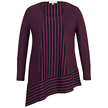 Buy Chesca Double Stripe Print Tunic Top, Aubergine/Black Online at johnlewis.com