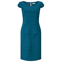 Buy Jacques Vert Scallop Layers Dress, Dark Green Online at johnlewis.com