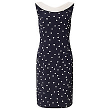 Buy Jacques Vert Spot Crepe Dress, Multi/Navy Online at johnlewis.com