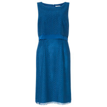 Buy Jacques Vert Peacocks Lace Dress, Mid Blue Online at johnlewis.com