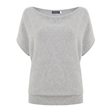 Buy Mint Velvet Batwing Knit Top, Silver Grey Online at johnlewis.com