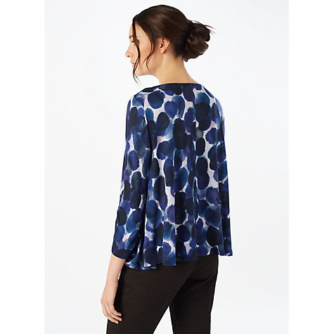 Buy Phase Eight Sequin Macey Knitted Top, Navy Online at johnlewis.com