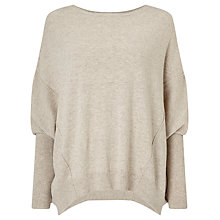 Buy Phase Eight Ebony Exposed Seam Jumper, Stone Online at johnlewis.com