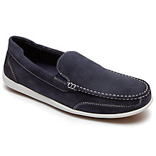 Buy Rockport Bennett Lane 4 Leather Slip-On Shoes, New Dress Blues Online at johnlewis.com
